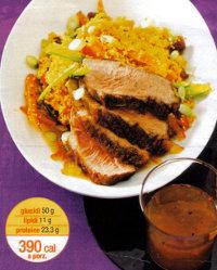 Ricette carne ricetta petto d Anatra con il Cuscus. Un piatto unico dietetico da 390 calorie a porzione