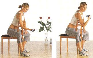 esercizio braccia con i pesi