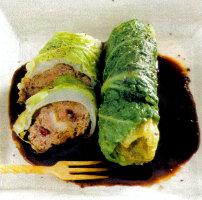 Ricette dietetiche secondi piatti carne ricetta Fagottini con le Verze. Secondo piatto da 205 calorie a porzione