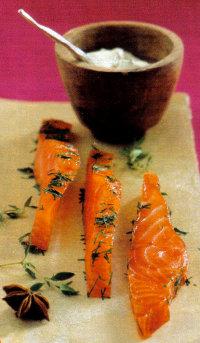 Ricette light veloci pesce ricetta Salmone agli Aromi da 190 calorie a porzione. Antipasto o secondo piatto