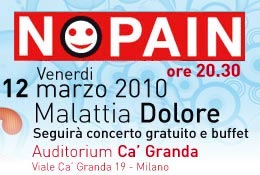 Il 12 Marzo 2010 a Milano un incontro aperto al pubblico sulla Terapia del Dolore Cronico  Onlus Nopain