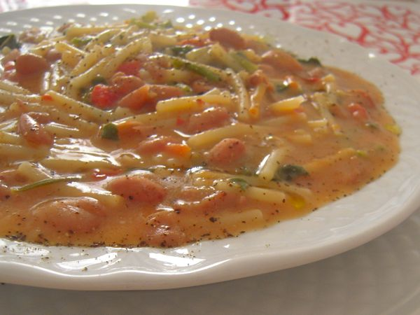 ricetta-minestra-di-fagioli-con-spaghetti