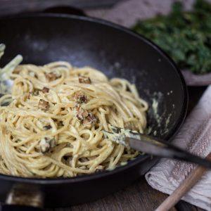 carbonara vegana ricetta primo piatto vegetariano